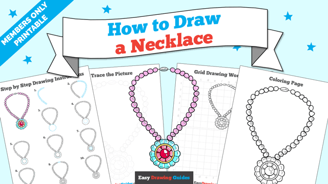 download a printable PDF of Necklace drawing tutorial