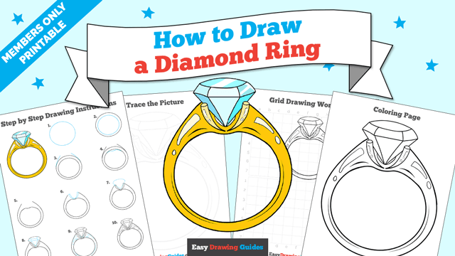download a printable PDF of Diamond Ring drawing tutorial
