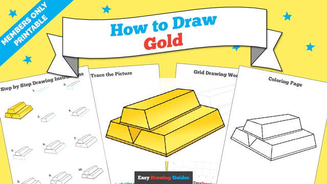 download a printable PDF of Gold drawing tutorial