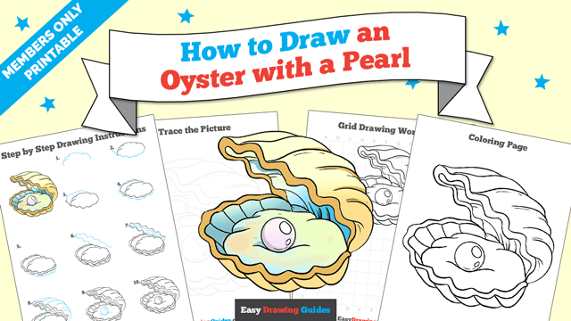 download a printable PDF of Oyster with a Pearl drawing tutorial