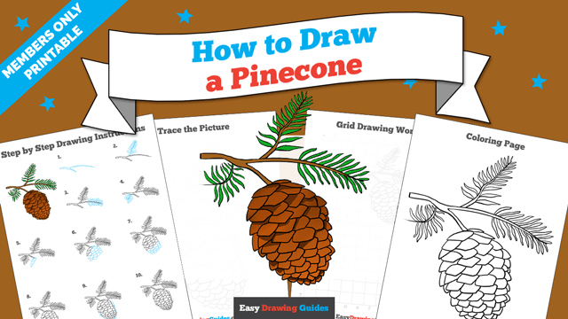 download a printable PDF of Pinecone drawing tutorial