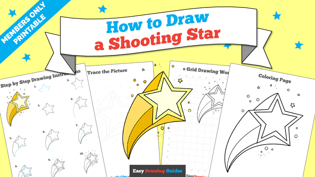 download a printable PDF of Shooting Star drawing tutorial