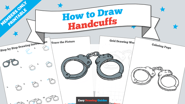 download a printable PDF of Handcuffs drawing tutorial