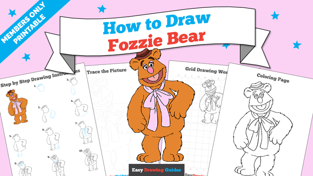 Printables thumbnail: How to draw Fozzie Bear