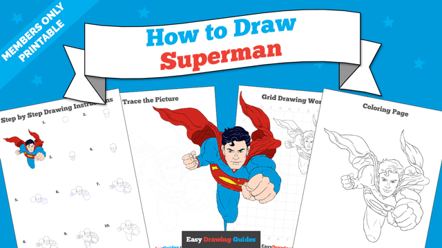 download a printable PDF of Superman drawing tutorial