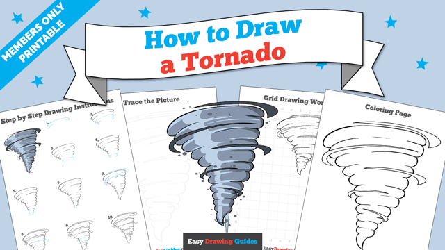 download a printable PDF of Tornado drawing tutorial