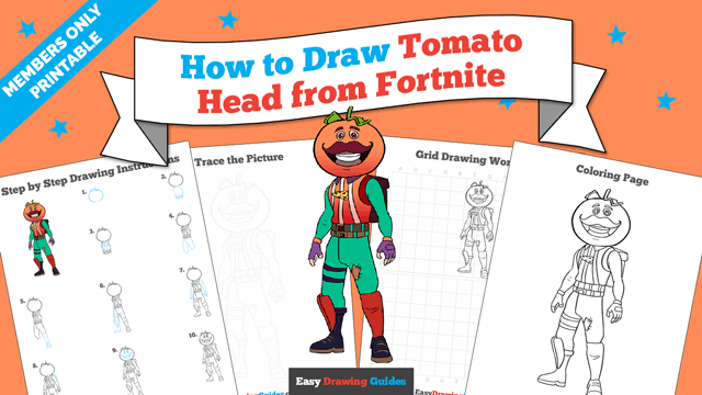 download a printable PDF of Tomato Head from Fortnite drawing tutorial