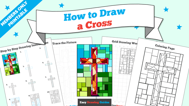 download a printable PDF of Cross drawing tutorial