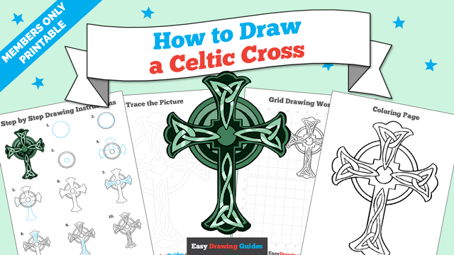 download a printable PDF of Celtic Cross drawing tutorial