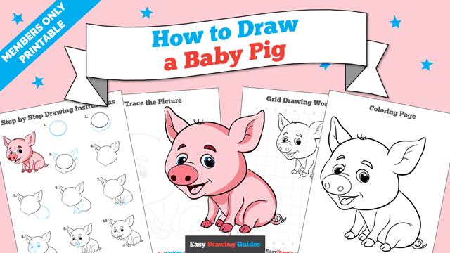 download a printable PDF of Baby Pig drawing tutorial
