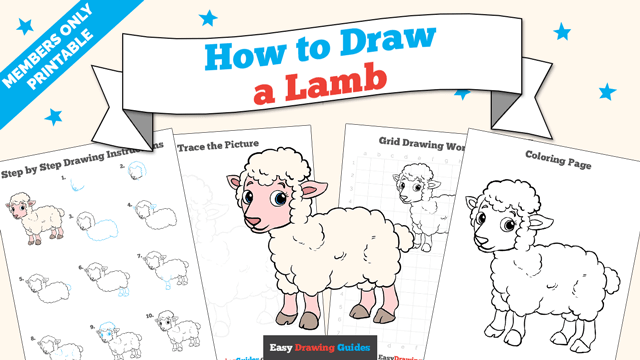 download a printable PDF of Lamb drawing tutorial