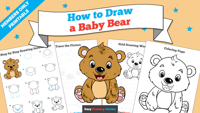 download a printable PDF of Baby Bear drawing tutorial