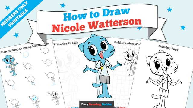 download a printable PDF of Nicole Watterson drawing tutorial