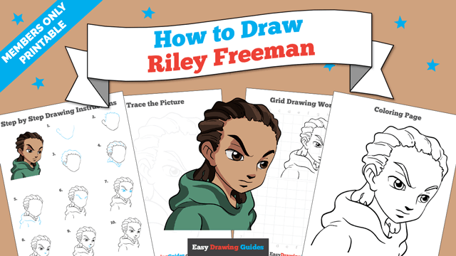 download a printable PDF of Riley Freeman drawing tutorial