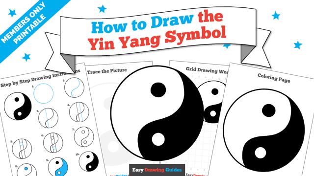 download a printable PDF of Yin Yang Symbol drawing tutorial