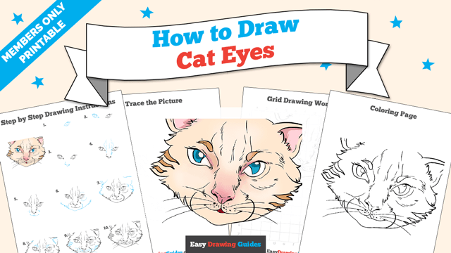 How To Draw Cat Eyes Really Easy Drawing Tutorial