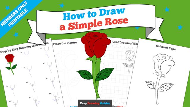 download a printable PDF of Simple Rose drawing tutorial