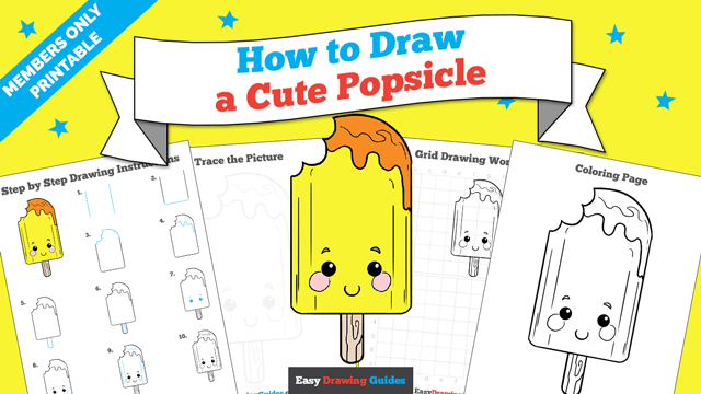 download a printable PDF of Cute Popsicle drawing tutorial