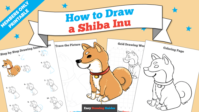 download a printable PDF of Shiba Inu drawing tutorial