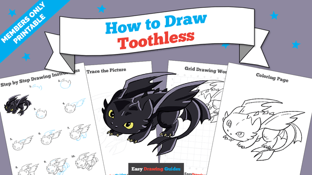 download a printable PDF of Toothless drawing tutorial
