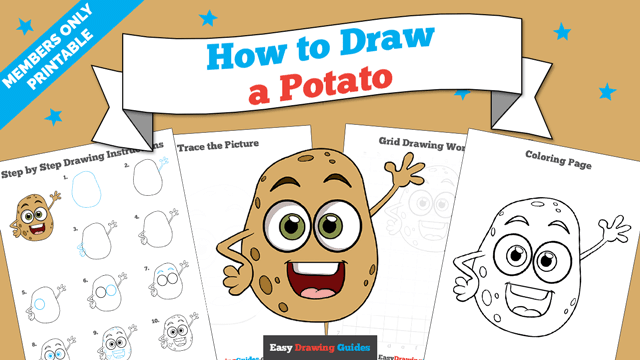 download a printable PDF of Potato drawing tutorial
