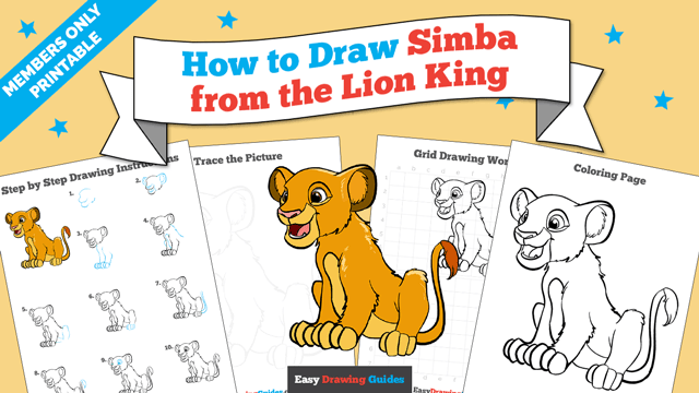 download a printable PDF of Simba from the Lion King drawing tutorial