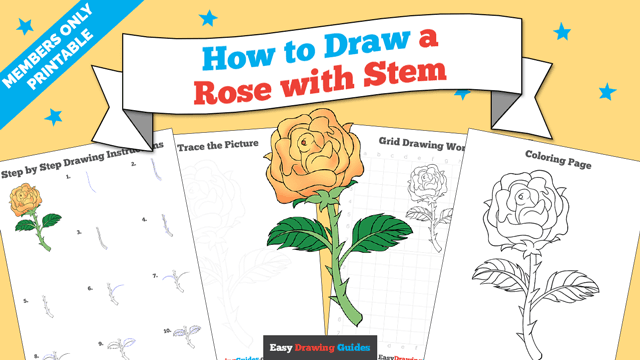 download a printable PDF of Rose with a Stem drawing tutorial