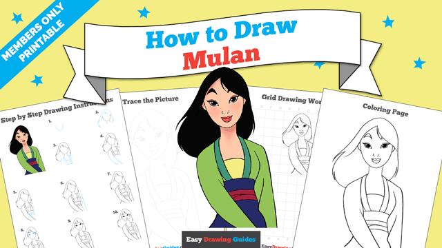 download a printable PDF of Mulan drawing tutorial