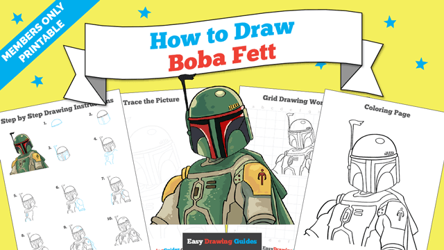 download a printable PDF of Boba Fett drawing tutorial