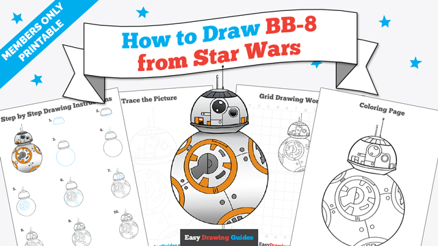 download a printable PDF of BB-8 from Star Wars drawing tutorial