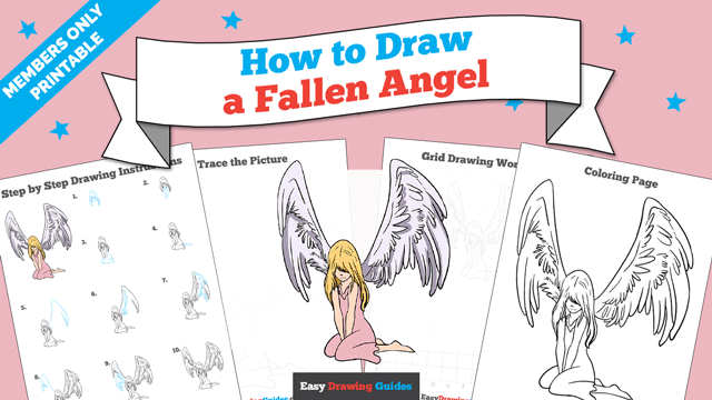 Printables thumbnail: How to draw a Fallen Angel