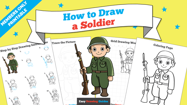 download a printable PDF of Soldier drawing tutorial