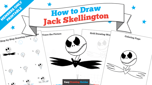 download a printable PDF of Jack Skellington drawing tutorial