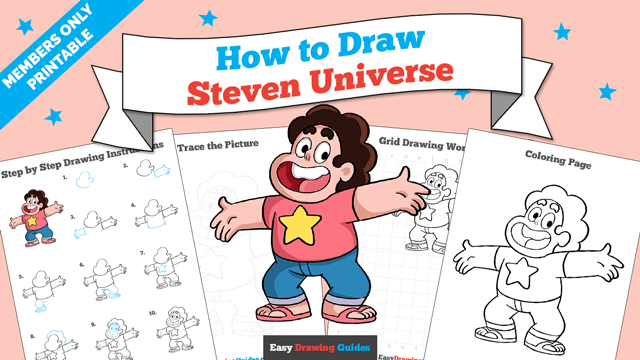download a printable PDF of Steven Universe drawing tutorial