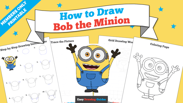 download a printable PDF of Bob the Minion drawing tutorial