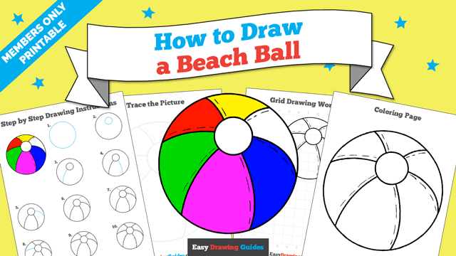 download a printable PDF of Beach Ball drawing tutorial