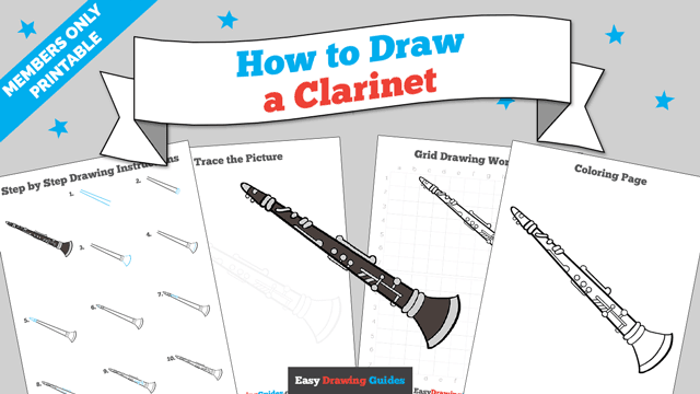 download a printable PDF of Clarinet drawing tutorial