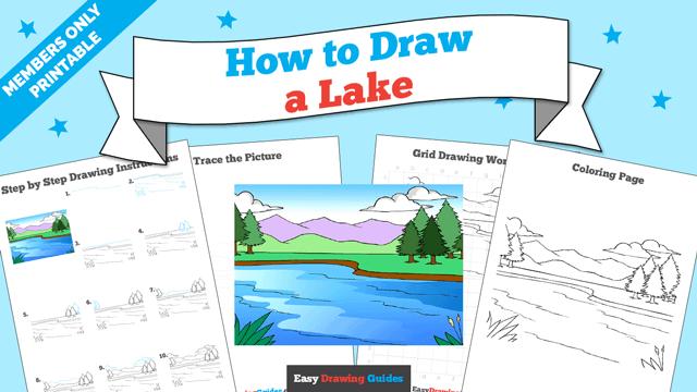 Printables thumbnail: How to draw a Lake