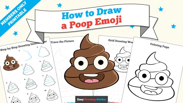 download a printable PDF of Poop Emoji drawing tutorial
