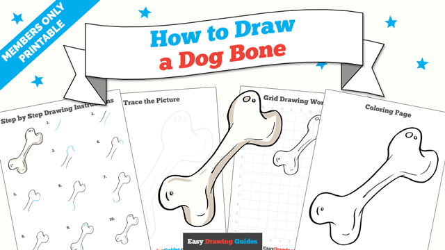 download a printable PDF of Dog Bone drawing tutorial