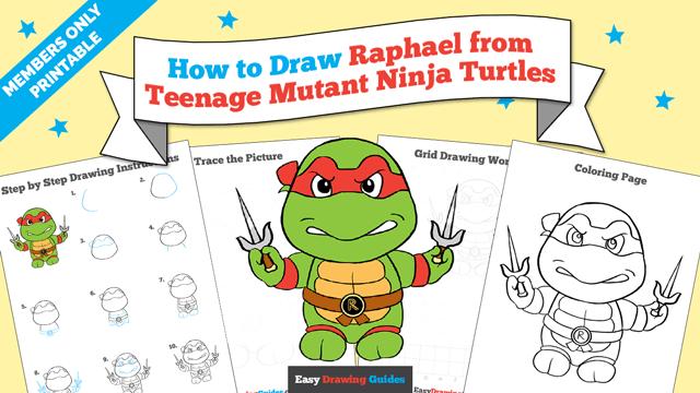download a printable PDF of Raphael from Teenage Mutant Ninja Turtles drawing tutorial