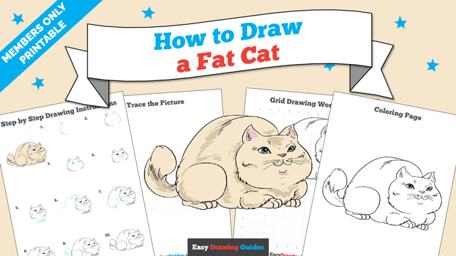 download a printable PDF of Fat Cat drawing tutorial