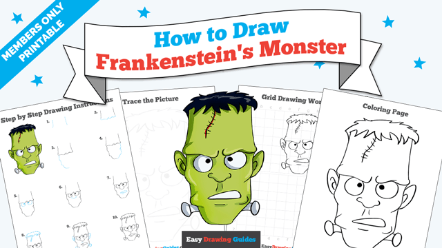 Printables thumbnail: How to draw Frankenstein's Monster