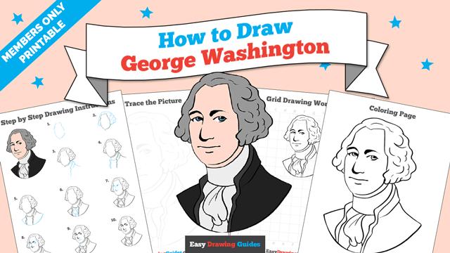 Printables thumbnail: How to draw George Washington