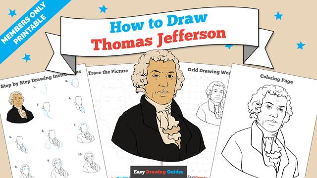 Printables thumbnail: How to draw Thomas Jefferson