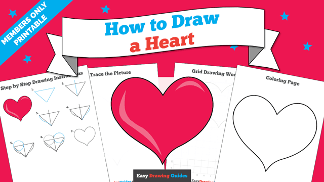download a printable PDF of Heart drawing tutorial