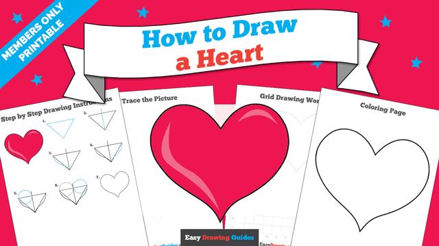 Human Heart Drawing Manual Guide