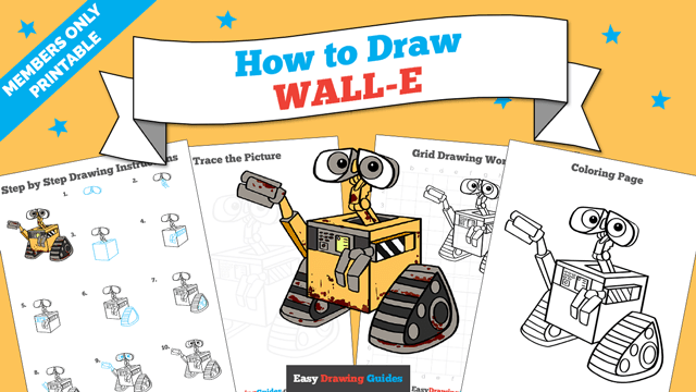 download a printable PDF of WALL-E drawing tutorial