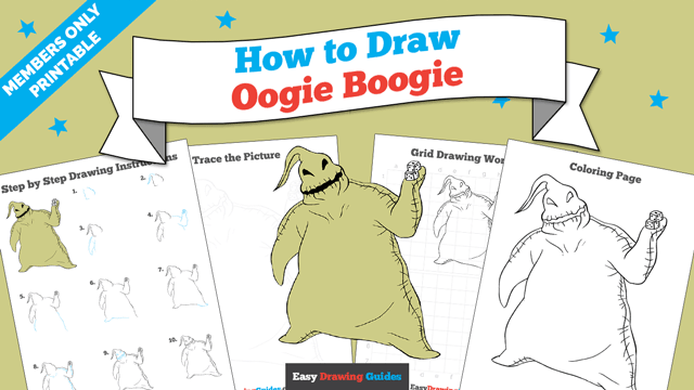 download a printable PDF of Oogie Boogie from the Nightmare Before Christmas drawing tutorial