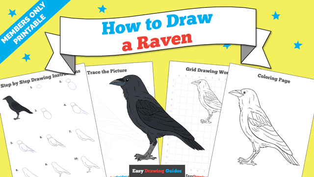 download a printable PDF of Raven drawing tutorial